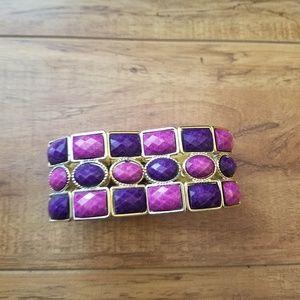 Jewelry - 2/$6 Purple & pink bead bracelet costume jewelry